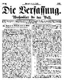 Die Verfassung : Wochenblatt für das Volk, Sonnabend, 8. Juli, Nr 27, 1865