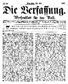 Die Verfassung : Wochenblatt für das Volk, Sonnabend, 22. Juli, Nr 29, 1865