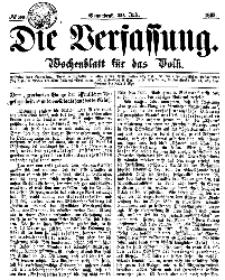Die Verfassung : Wochenblatt für das Volk, Sonnabend, 29. Juli, Nr 30, 1865