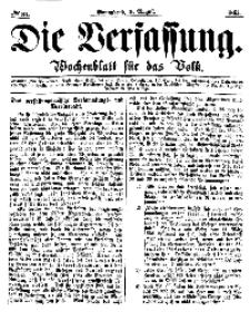 Die Verfassung : Wochenblatt für das Volk, Sonnabend, 5. August, Nr 31, 1865