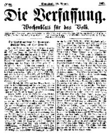 Die Verfassung : Wochenblatt für das Volk, Sonnabend, 12. August, Nr 32, 1865