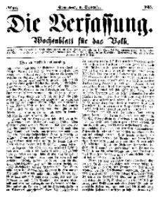 Die Verfassung : Wochenblatt für das Volk, Sonnabend, 9. September, Nr 36, 1865