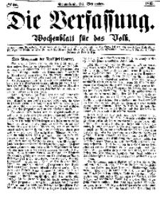 Die Verfassung : Wochenblatt für das Volk, Sonnabend, 23. September, Nr 38, 1865