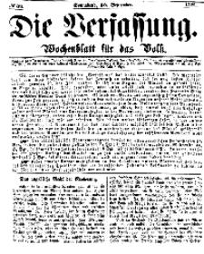 Die Verfassung : Wochenblatt für das Volk, Sonnabend, 30. September, Nr 39, 1865