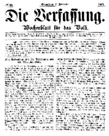 Die Verfassung : Wochenblatt für das Volk, Sonnabend, 2. Dezember, Nr 48, 1865