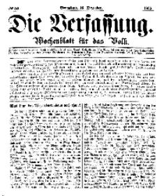 Die Verfassung : Wochenblatt für das Volk, Sonnabend, 16. Dezember, Nr 50, 1865