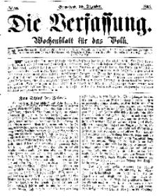 Die Verfassung : Wochenblatt für das Volk, Sonnabend, 30. Dezember, Nr 52, 1865