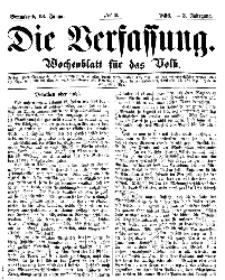 Die Verfassung : Wochenblatt für das Volk, Sonnabend, 13. Januar, Nr 2, 1866