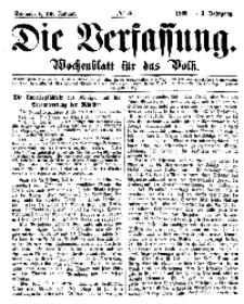 Die Verfassung : Wochenblatt für das Volk, Sonnabend, 20. Januar, Nr 3, 1866