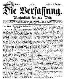 Die Verfassung : Wochenblatt für das Volk, Sonnabend, 27. Januar, Nr 4, 1866