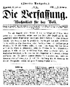 Die Verfassung : Wochenblatt für das Volk, Sonnabend, 10. Februar, Nr 6, 1866