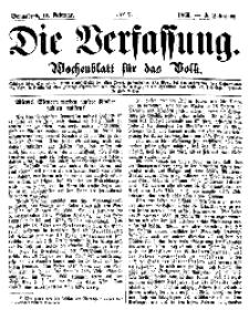 Die Verfassung : Wochenblatt für das Volk, Sonnabend, 17. Februar, Nr 7, 1866