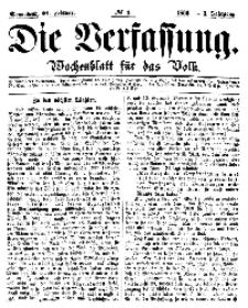 Die Verfassung : Wochenblatt für das Volk, Sonnabend, 24. Februar, Nr 8, 1866
