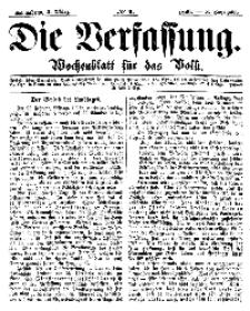 Die Verfassung : Wochenblatt für das Volk, Sonnabend, 3. März, Nr 9, 1866
