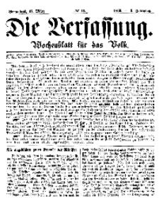 Die Verfassung : Wochenblatt für das Volk, Sonnabend, 17. März, Nr 11, 1866