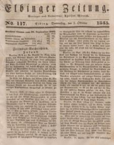 Elbinger Zeitung, No. 117 Donnerstag, 2. Oktober 1845