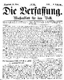 Die Verfassung : Wochenblatt für das Volk, Sonnabend, 31. März, Nr 13, 1866