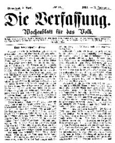 Die Verfassung : Wochenblatt für das Volk, Sonnabend, 7. April, Nr 14, 1866