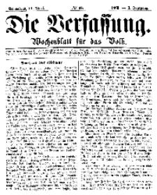 Die Verfassung : Wochenblatt für das Volk, Sonnabend, 14. April, Nr 15, 1866