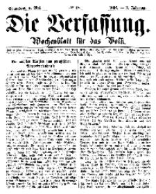 Die Verfassung : Wochenblatt für das Volk, Sonnabend, 5. Mai, Nr 18, 1866