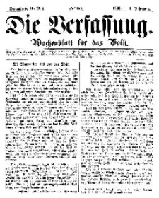 Die Verfassung : Wochenblatt für das Volk, Sonnabend, 19. Mai, Nr 20, 1866