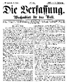 Die Verfassung : Wochenblatt für das Volk, Sonnabend, 2. Juni, Nr 22, 1866