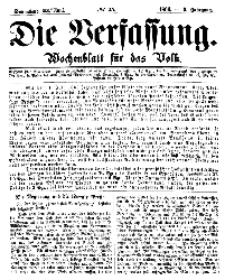 Die Verfassung : Wochenblatt für das Volk, Sonnabend, 23. Juni, Nr 25, 1866