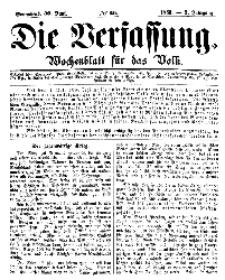 Die Verfassung : Wochenblatt für das Volk, Sonnabend, 30. Juni, Nr 26, 1866
