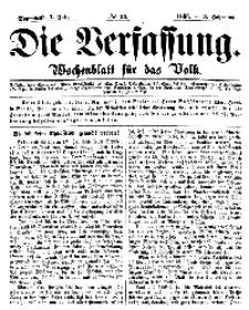 Die Verfassung : Wochenblatt für das Volk, Sonnabend, 7. Juli, Nr 27, 1866