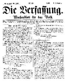 Die Verfassung : Wochenblatt für das Volk, Sonnabend, 21. Juli, Nr 29, 1866