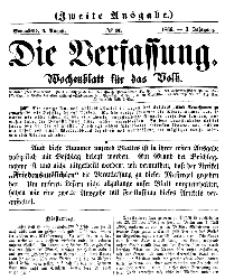 Die Verfassung : Wochenblatt für das Volk, Sonnabend, 4. August, Nr 31, 1866