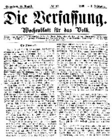 Die Verfassung : Wochenblatt für das Volk, Sonnabend, 11. August, Nr 32, 1866
