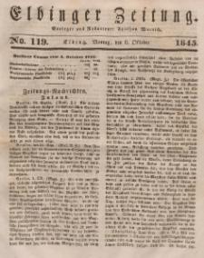 Elbinger Zeitung, No. 119 Montag, 6. Oktober 1845