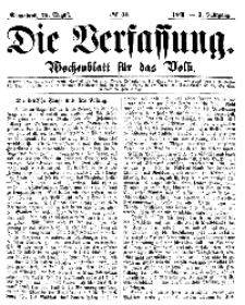 Die Verfassung : Wochenblatt für das Volk, Sonnabend, 25. August, Nr 34, 1866