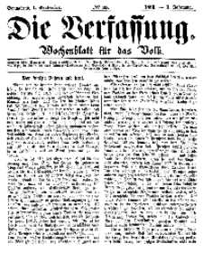 Die Verfassung : Wochenblatt für das Volk, Sonnabend, 1. September, Nr 35, 1866