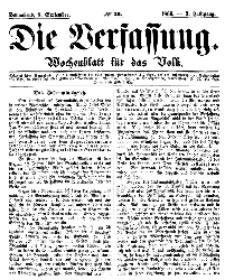 Die Verfassung : Wochenblatt für das Volk, Sonnabend, 8. September, Nr 36, 1866