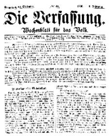 Die Verfassung : Wochenblatt für das Volk, Sonnabend, 22. September, Nr 38, 1866