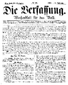 Die Verfassung : Wochenblatt für das Volk, Sonnabend, 29. September, Nr 39, 1866
