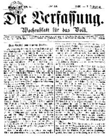 Die Verfassung : Wochenblatt für das Volk, Montag, 29. October, Nr 43, 1866