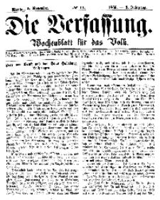 Die Verfassung : Wochenblatt für das Volk, Montag, 5. November, Nr 44, 1866