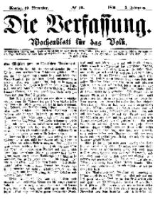 Die Verfassung : Wochenblatt für das Volk, Montag, 19. November, Nr 46, 1866