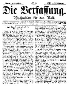 Die Verfassung : Wochenblatt für das Volk, Montag, 3. Dezember, Nr 48, 1866