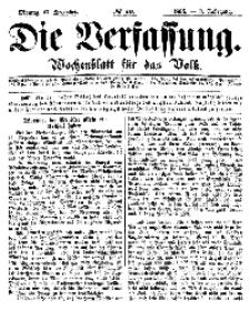 Die Verfassung : Wochenblatt für das Volk, Montag, 17. Dezember, Nr 50, 1866