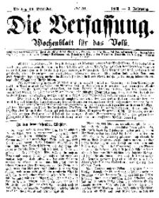 Die Verfassung : Wochenblatt für das Volk, Montag, 24. Dezember, Nr 51, 1866