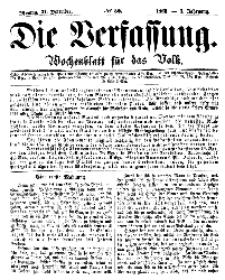 Die Verfassung : Wochenblatt für das Volk, Montag, 31. Dezember, Nr 52, 1866