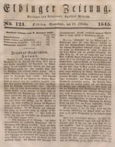 Elbinger Zeitung, No. 121 Sonnabend, 11. Oktober 1845