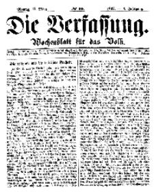 Die Verfassung : Wochenblatt für das Volk, Montag, 11. März, Nr 10, 1867