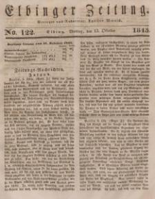 Elbinger Zeitung, No. 122 Montag, 13. Oktober 1845
