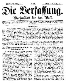 Die Verfassung : Wochenblatt für das Volk, Montag, 25. März, Nr 12, 1867