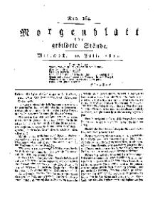 Morgenblatt für gebildete Stände, Mittwoch, 10. Juli 1811, No 164.